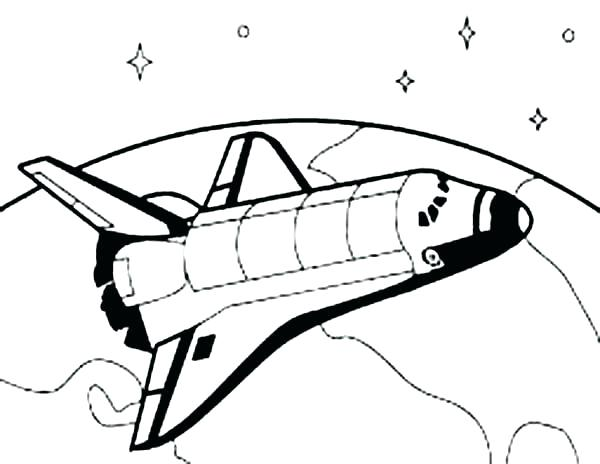 600x464 Good Space Shuttle Coloring Pages With Additional Picture
