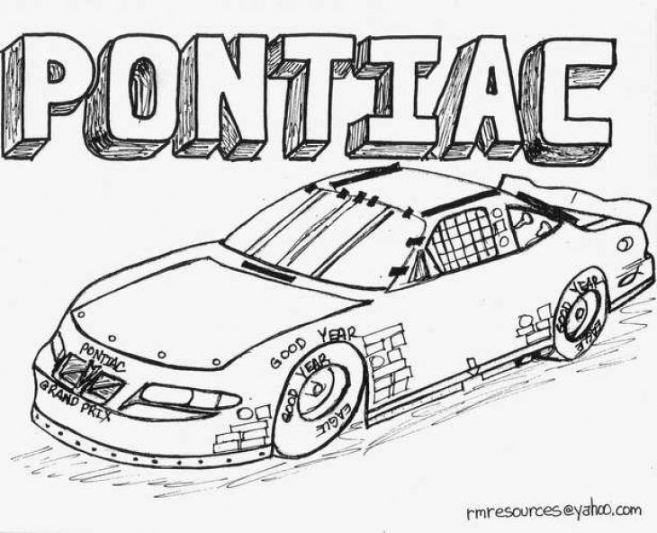 Nascar Car Coloring Pages at GetDrawings.com | Free for personal use ...