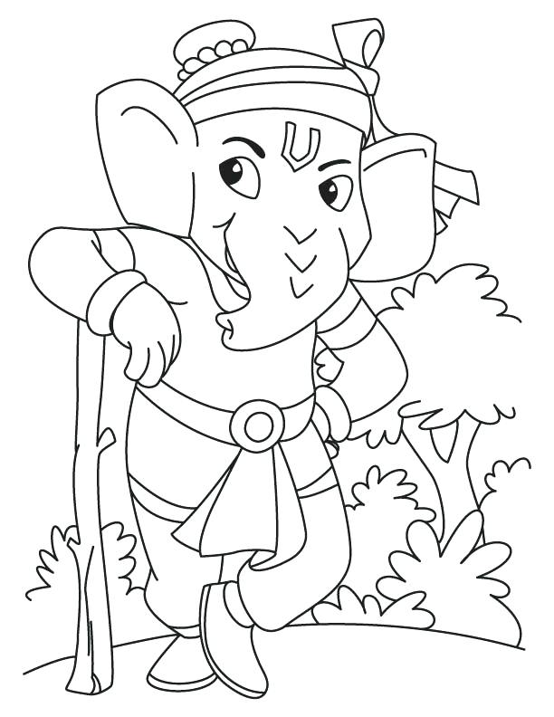 The Best Free Hanuman Coloring Page Images Download From 50 Free Coloring Pages Of Hanuman At Getdrawings