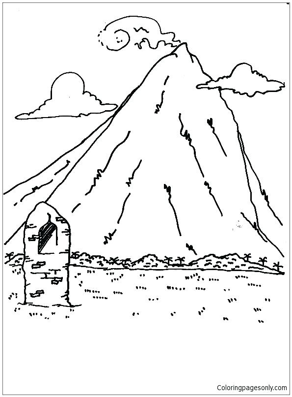 595x807 Mountains Coloring Page Coloring Pages Mountains High Mountains