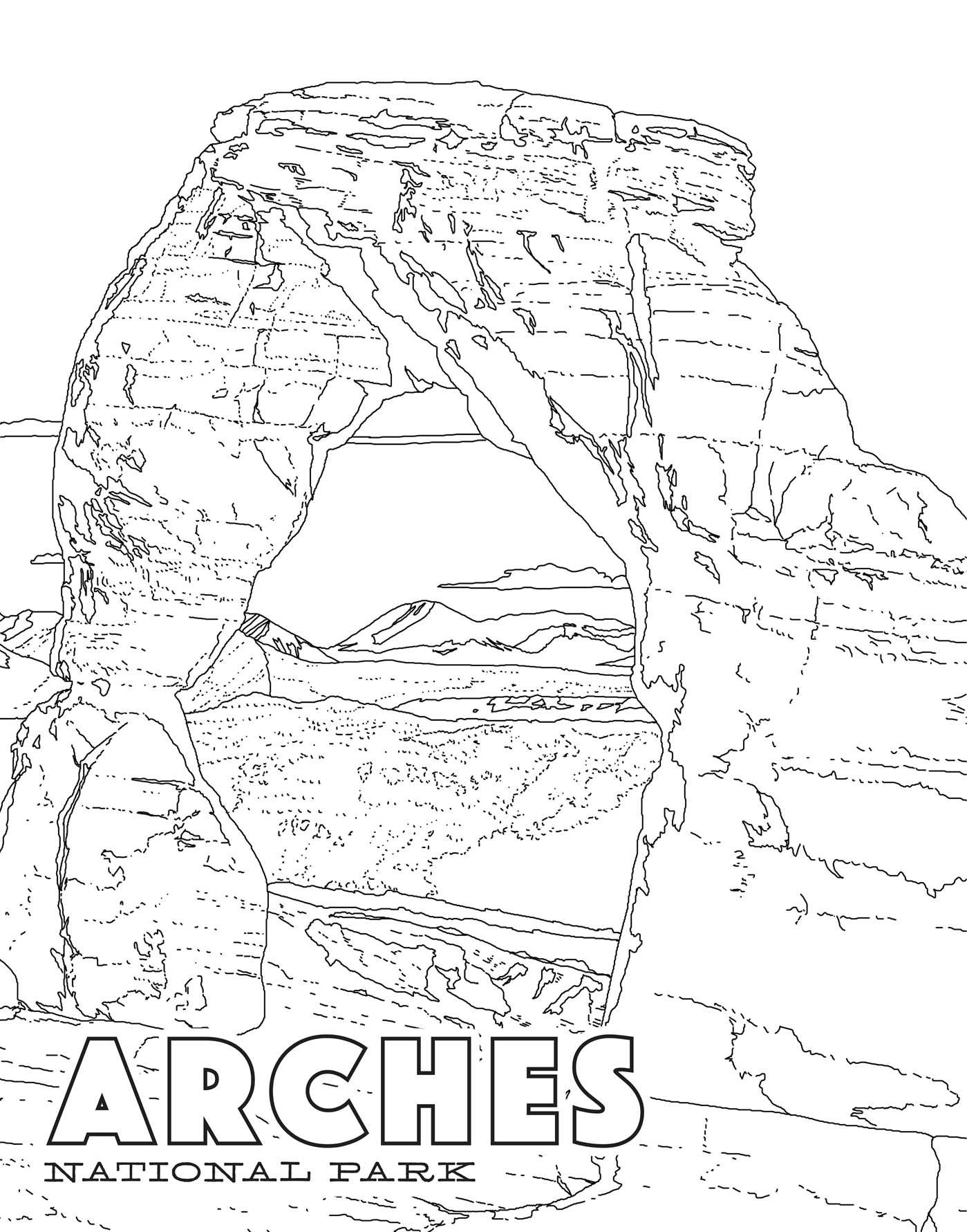 National Park Coloring Pages At Getdrawings Free Download