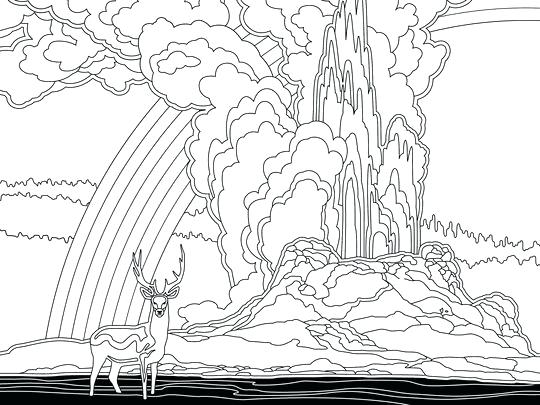 540x405 Yellowstone National Park Coloring Pages Coloring Page Online