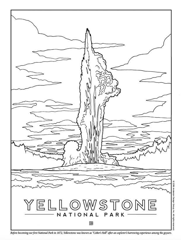 620x824 Yellowstone National Park Coloring Pages New Coloring Book