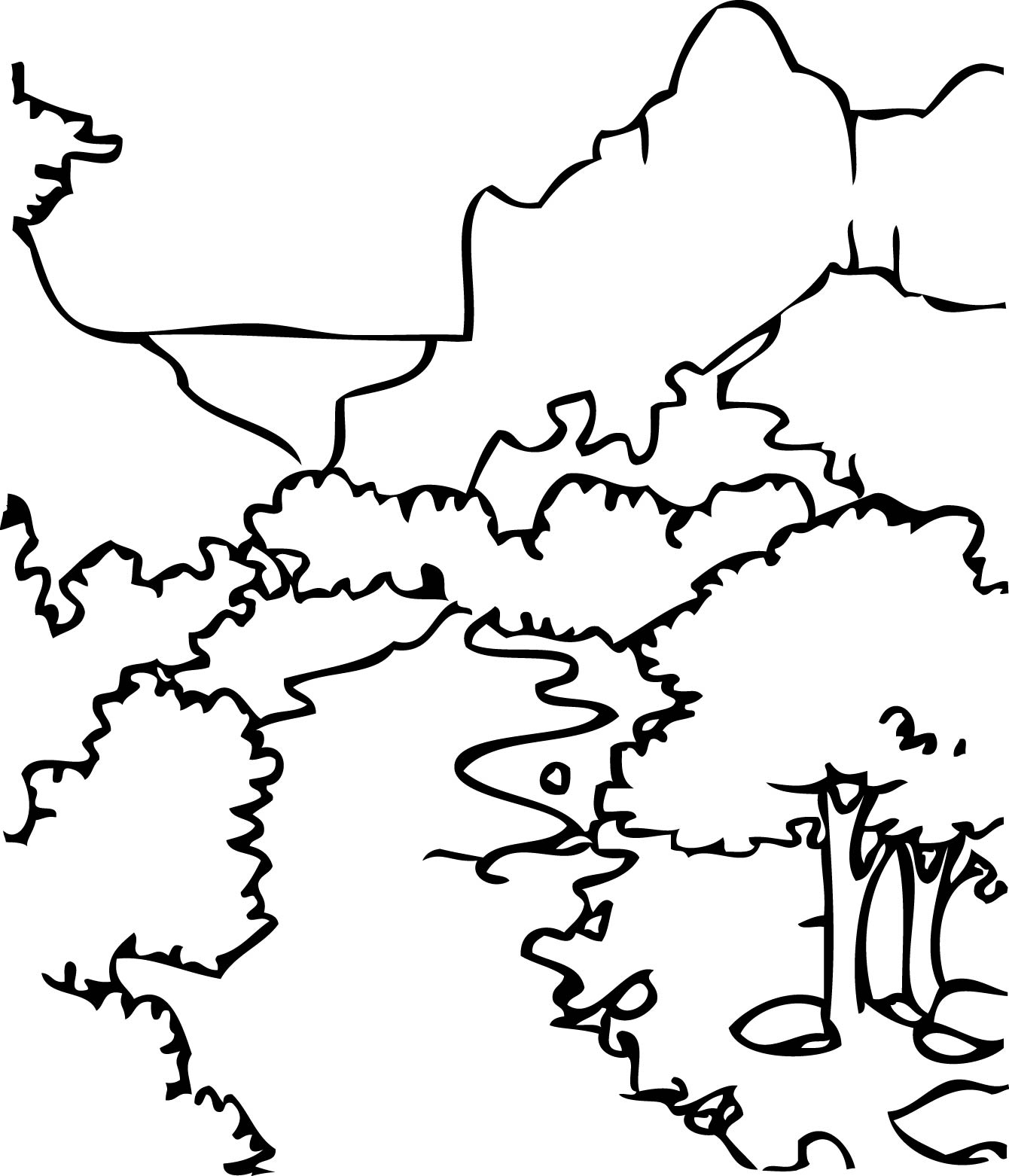 1340x1562 Zion National Park Coloring Page