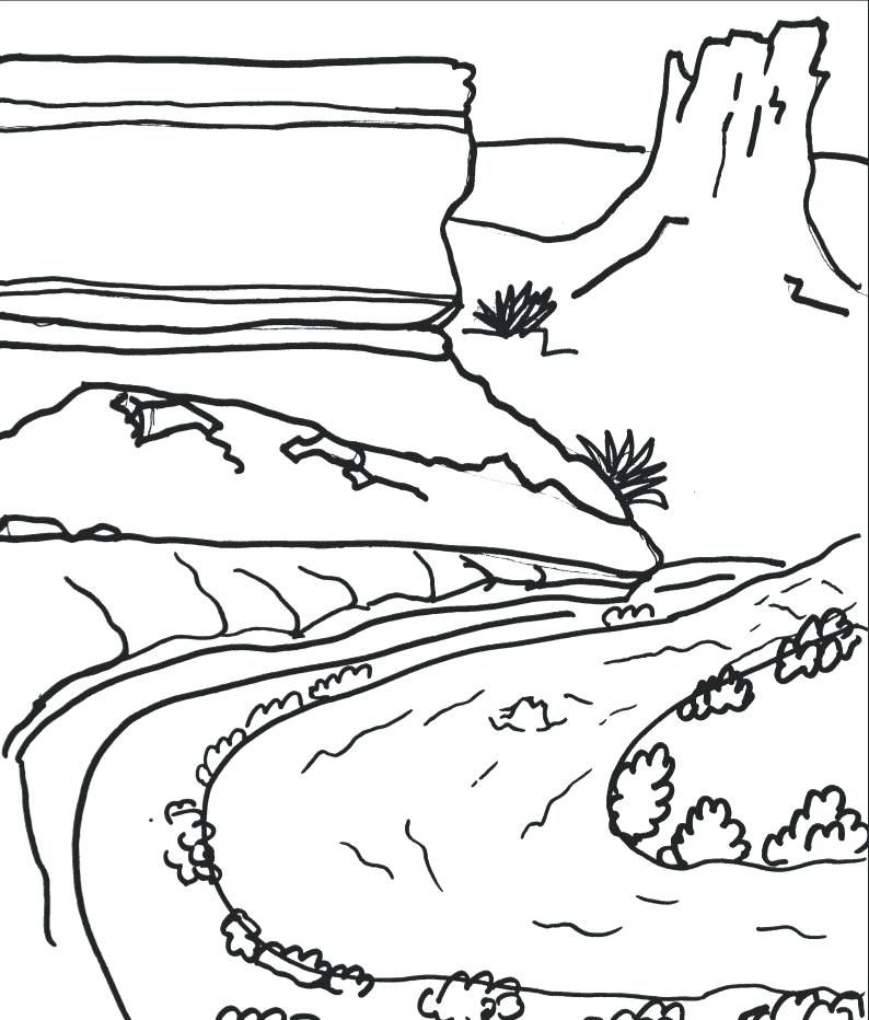794x932 National Parks Coloring Book