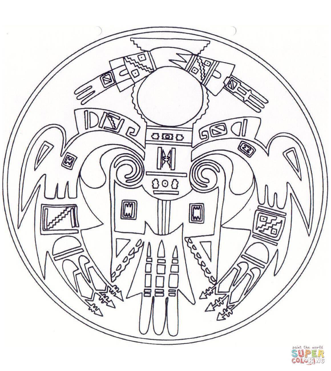 1160x1300 Inspiring Native American Mandala Coloring Page Printable Pic