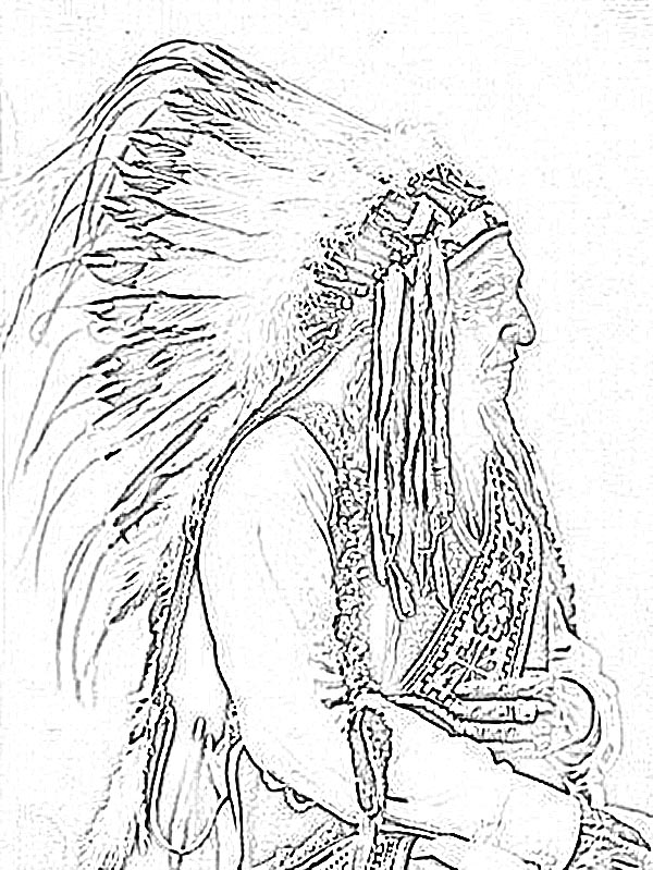 600x799 Native American Coloring Pages For Adults