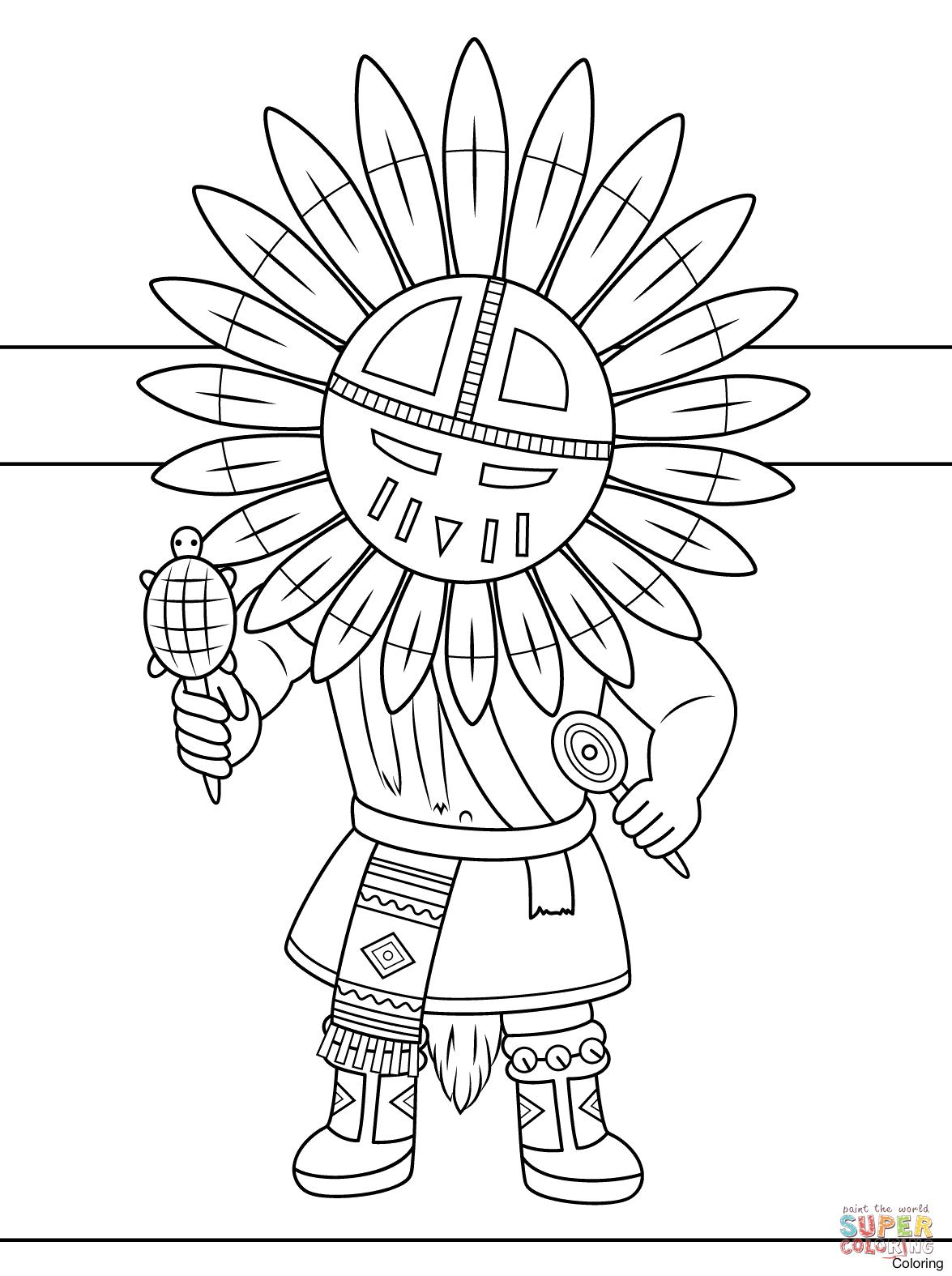 1175x1575 Native Coloring Pages Navajo Designs Indian Basket Free Printable