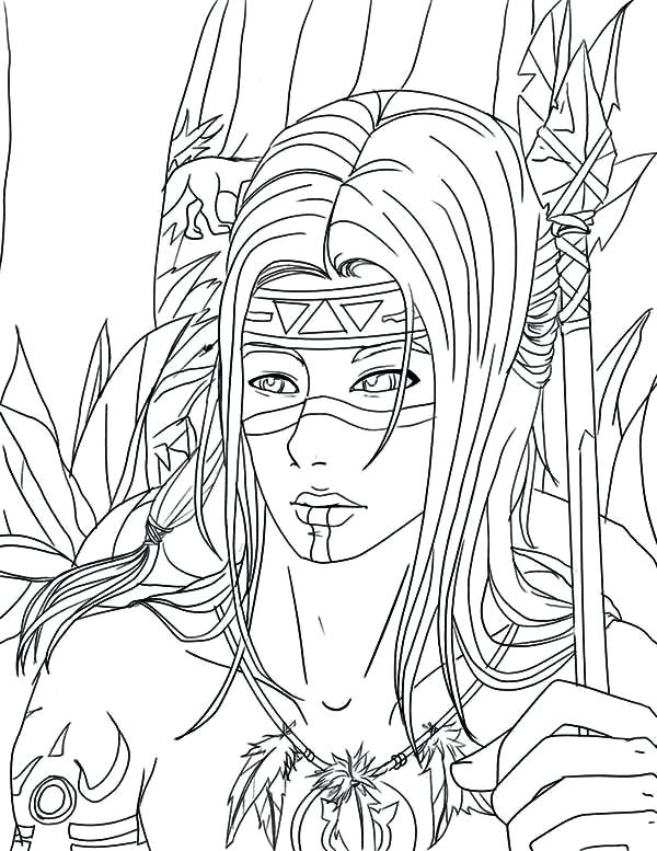 600x777 Native American Coloring Pages For Adults Native American Coloring