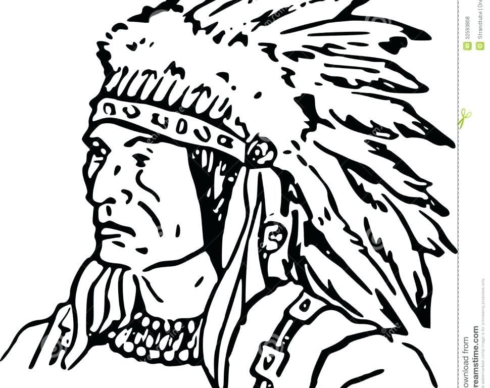 970x768 American Indian Coloring Pages