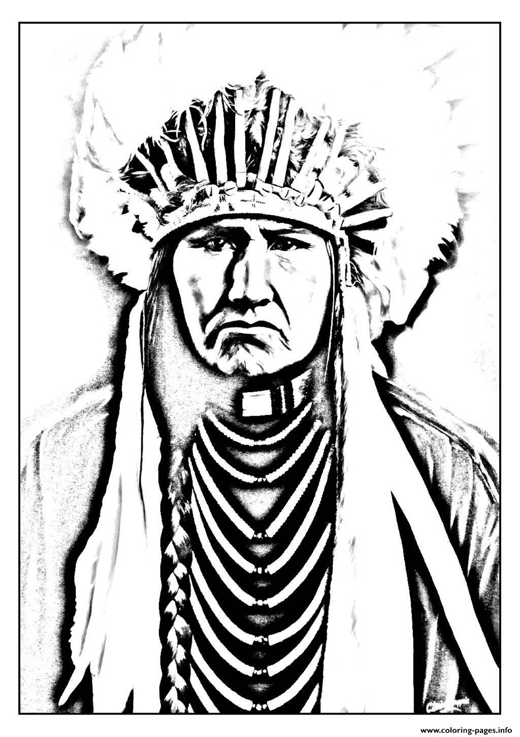 1024x1449 Adult Native American Indian Coloring Pages Printable
