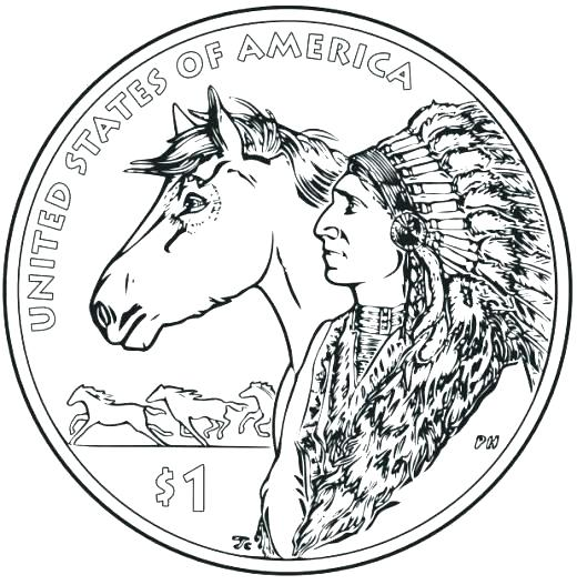520x527 Free Printable Native Coloring Page For Kids Native American Girl
