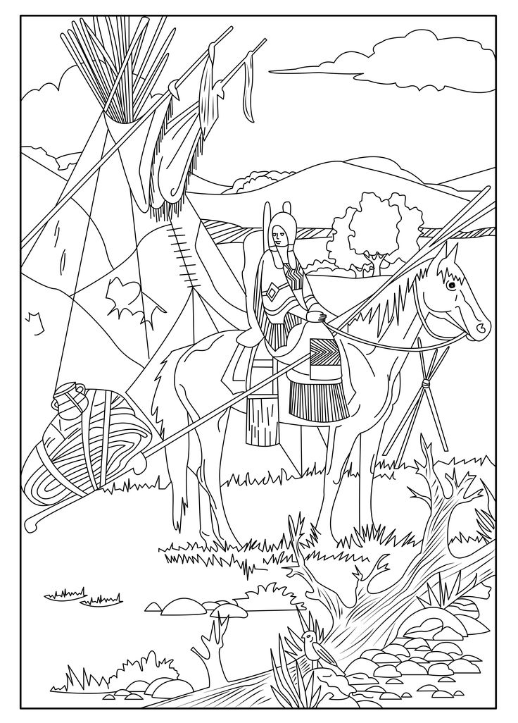 Native American Art Coloring Pages