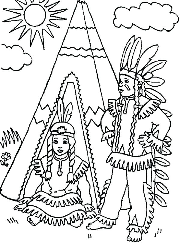 600x809 Native American Art Coloring Pages Native Awesome Native Chief
