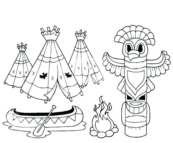 600x499 Native American Art Colouring Pages Coloring Page Native Native