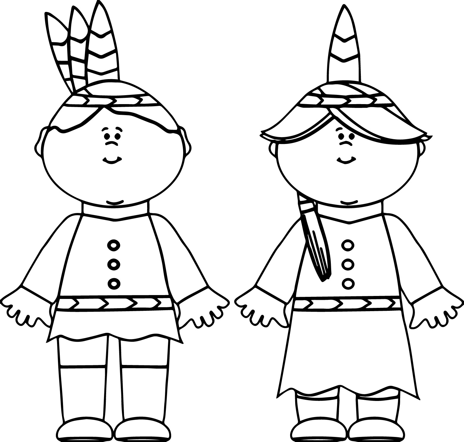1561x1486 Native American Indian Boy And Girl Coloring Page Wecoloringpage