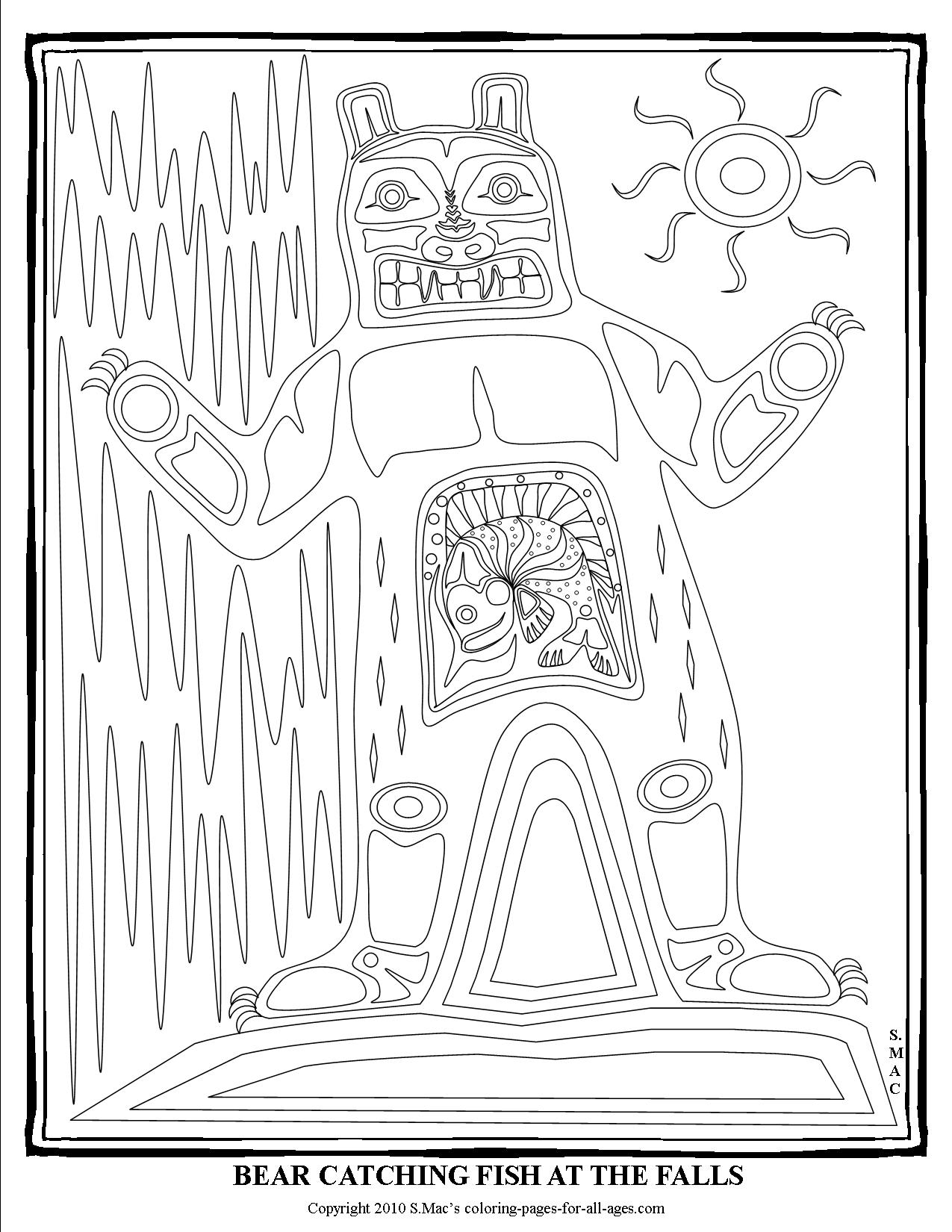 1275x1650 Pacific Northwest Native American Art Coloring Pages S Mac