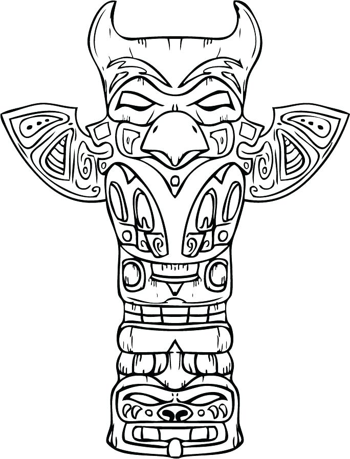 684x898 Idea Native American Art Coloring Pages And Totem Pole Coloring