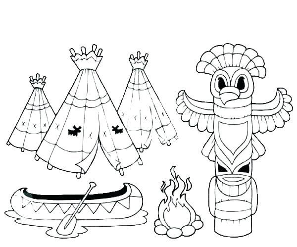 600x499 Native American Coloring Pages Free Native Coloring Pages Free