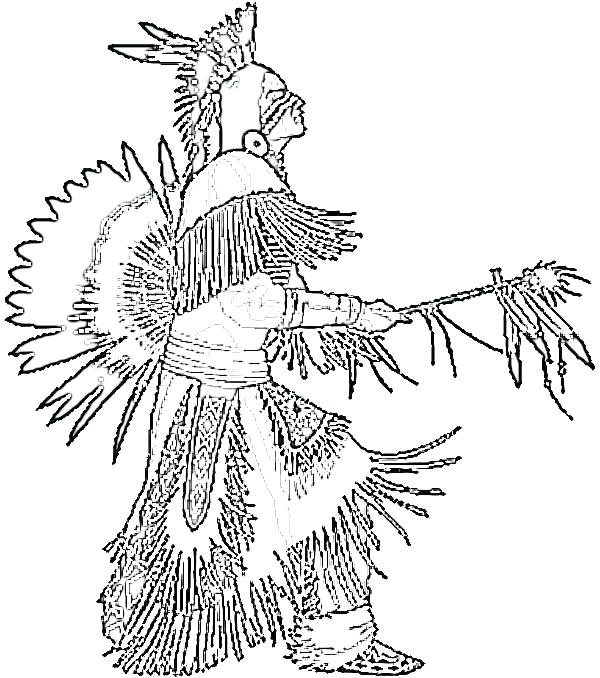 600x678 Native American Coloring Pages Free Native Warrior Coloring Page