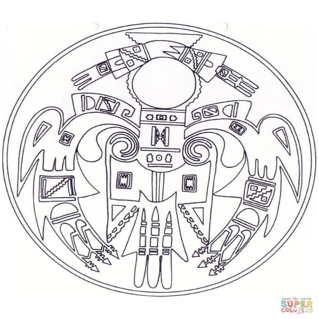 1024x1024 Printable Native American Coloring Pages