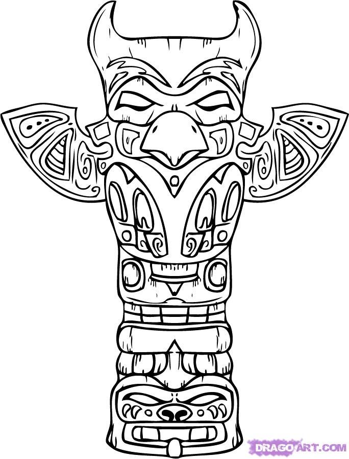 684x898 Native American Coloring Pages Totem Pole Coloring Pages