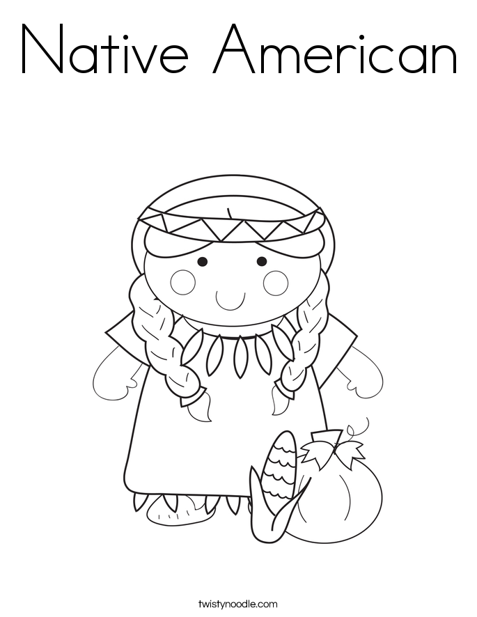 685x886 Native American Coloring Page