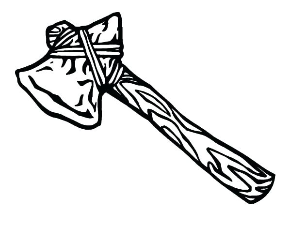 600x467 Native American Coloring Pages For Adults Tomahawk Hatchet