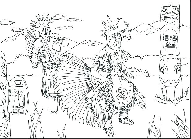 618x449 Free Printable Native Coloring Page For Kids Native American Girl