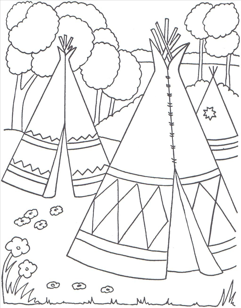 1023x1310 Native American Coloring Pages Native American Coloring Pages