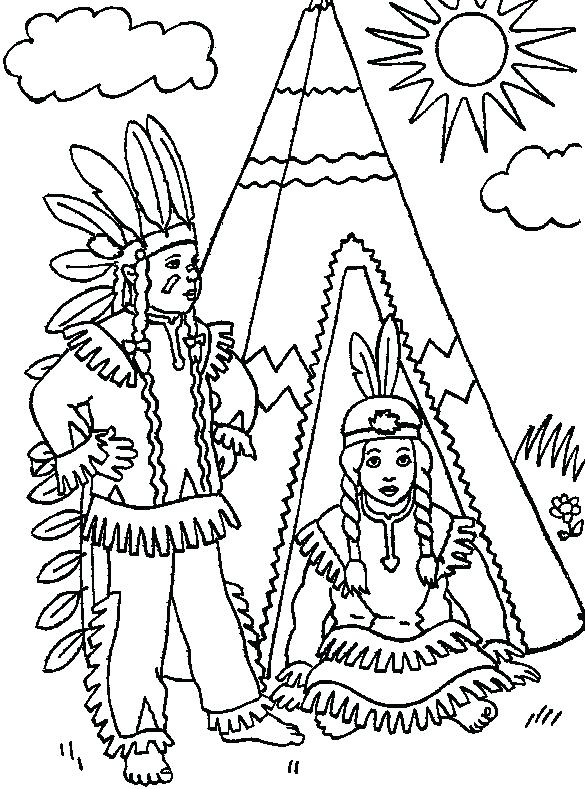 585x789 Native American Coloring Pages Printable Native Coloring Pages