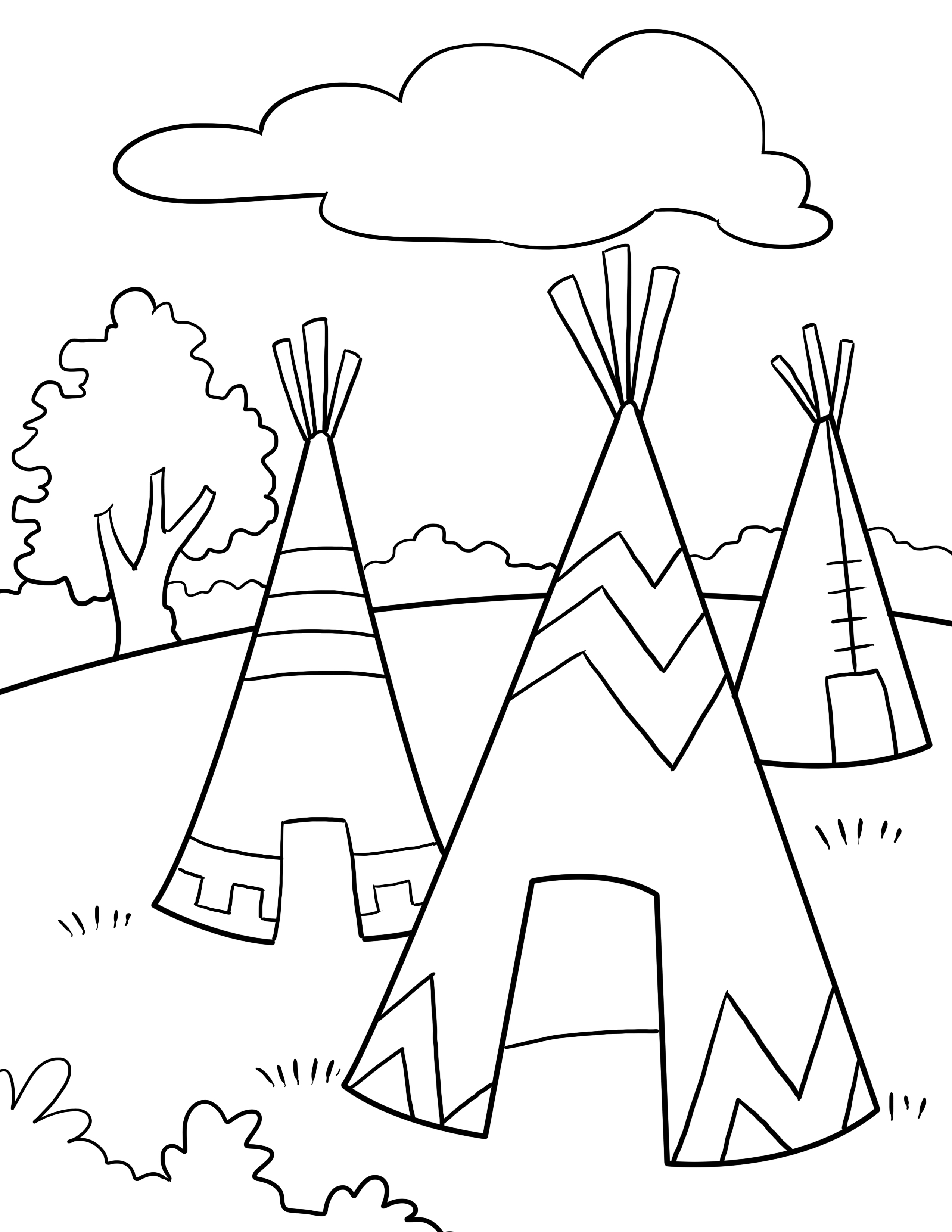2550x3300 Thanksgiving Coloring Pages Kids Throughout Native American