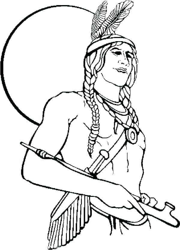 600x832 Native American Coloring Pages Free