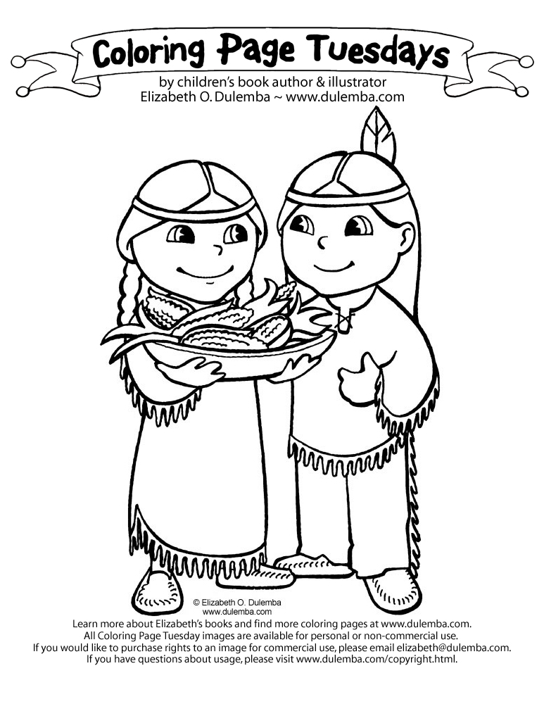 773x1000 Indian Coloring Pages