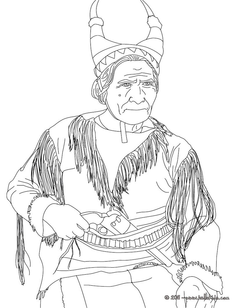 820x1060 Native Americans Coloring Pages