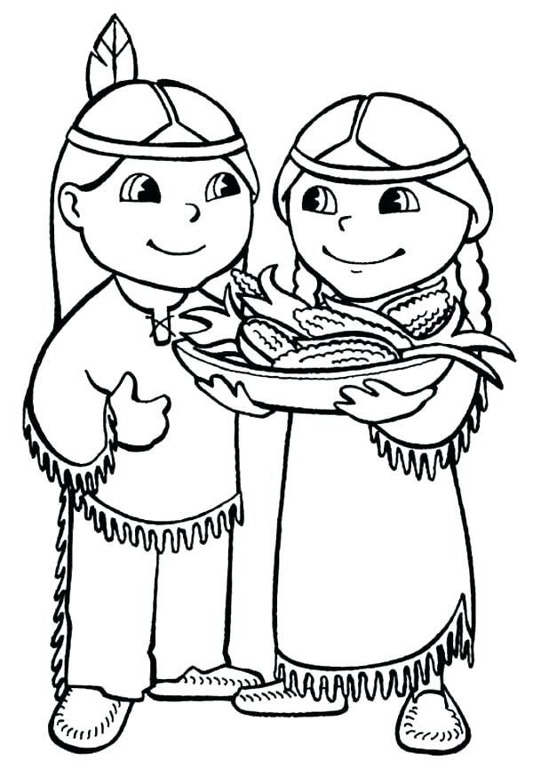 600x864 Native American Coloring Pages Printable