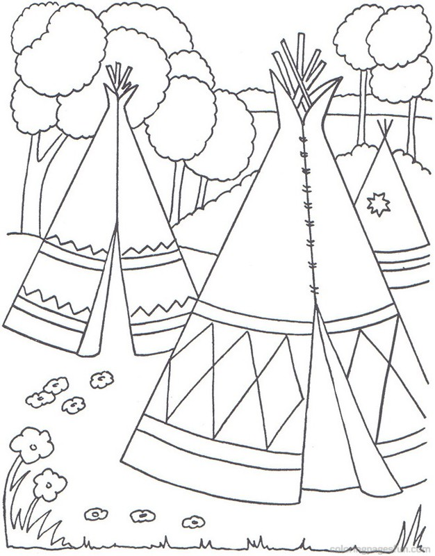 626x800 Native American Homes Coloring Pages