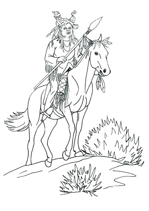 600x847 Native Coloring Sheets Native Coloring Pages For Boys Native