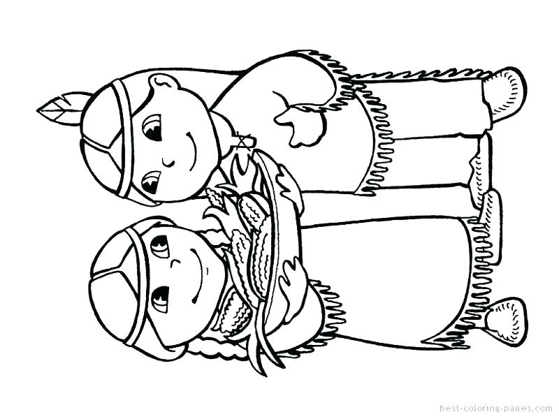 800x600 Free Native American Coloring Pages
