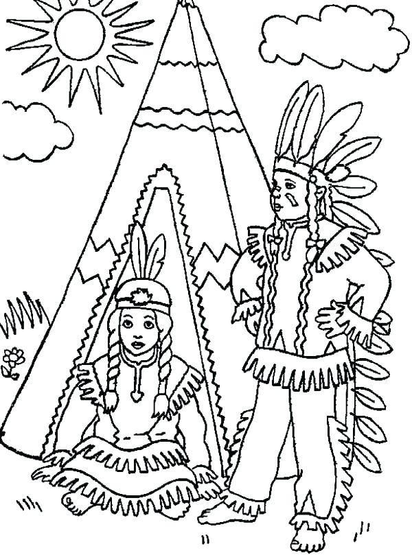 600x809 Native American Coloring Pages