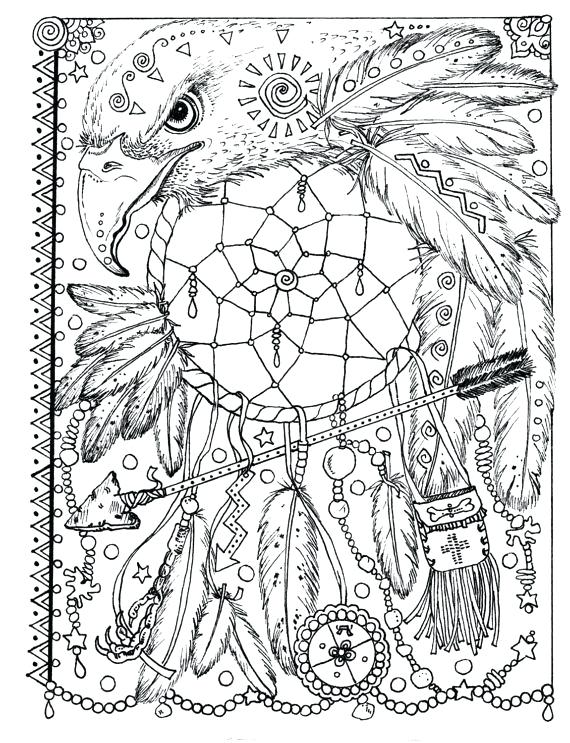 570x743 Dreamcatcher Coloring Pages Pages Instant Download Animal