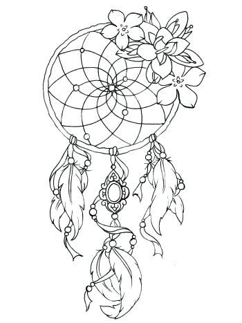 350x467 Dreamcatcher Coloring Pages Art Meditation Free Coloring Pages