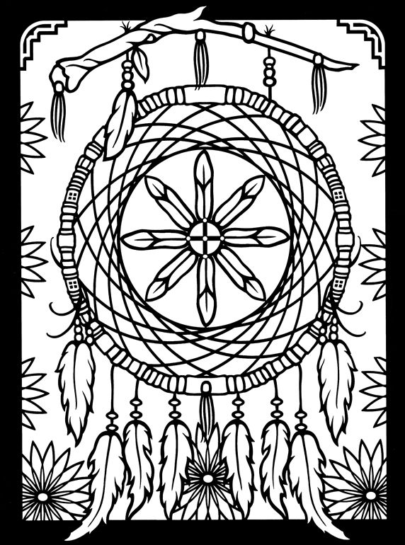 572x770 Dreamcatchers Stained Glass Coloring Book Dover Publications