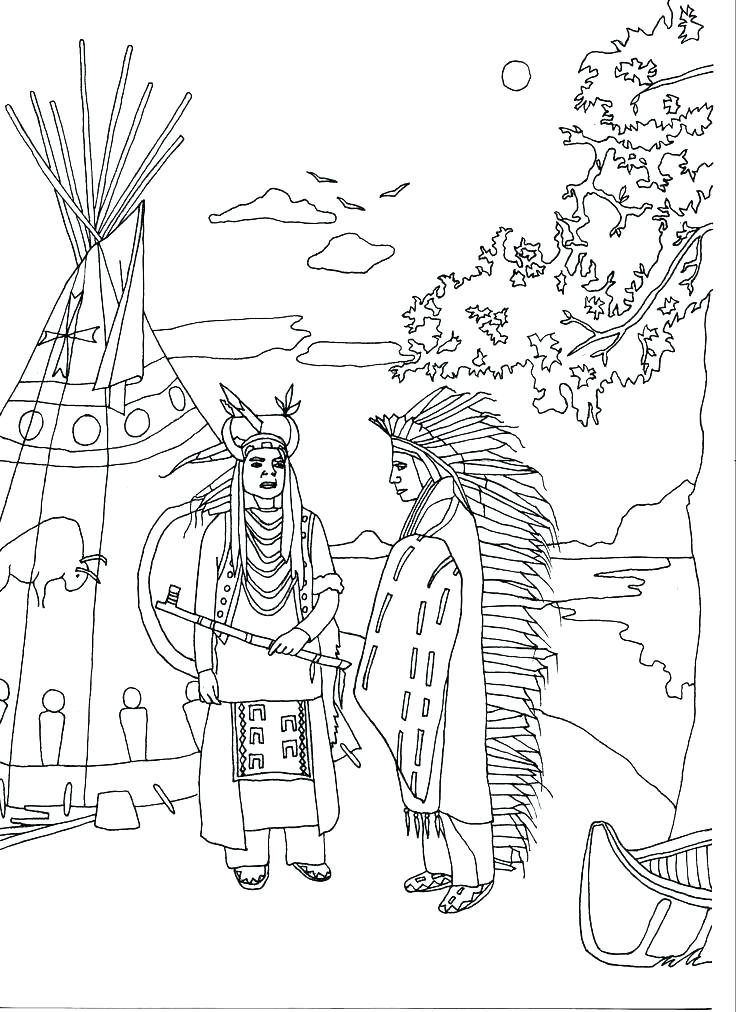 736x1012 Indian Coloring Pages Coloring Page Free Printable Pages Adult