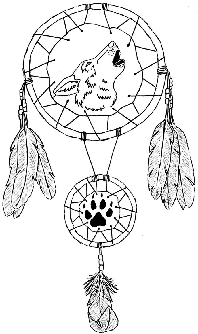 688x1160 Dreamcatcher Coloring Page