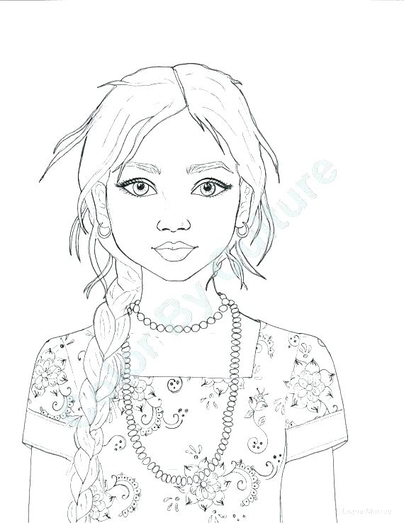 570x738 Indian Girl Coloring Page S Pritable Native American Indian Girl