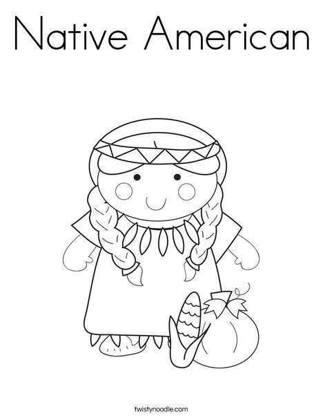 468x605 Native American Coloring Page