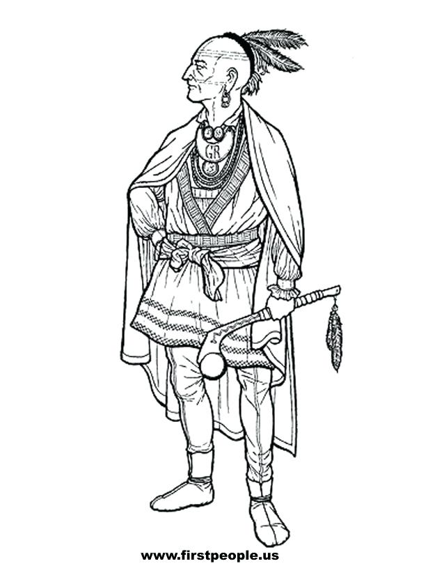 638x826 Native American Girl Coloring Page Kids Coloring Native To Color