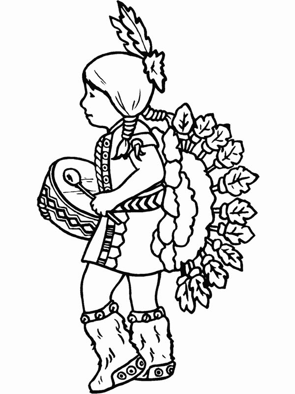 600x800 Native American Boy Coloring Pages