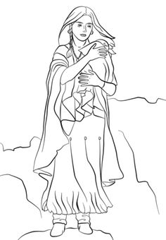 236x340 Coloring Pages Indian Women Coloring Page For Kids Shows